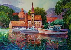 Alexander Antanenka Original Oil Painting On Stretched Canvas With Coa