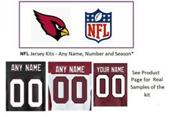 Nfl Arizona Cardinals Jersey Kit Custom Lettering Any Year Name Number Unsewn