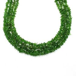 Chrome Diopside Gemstone Beads Aaa+ Quality Uncut Chips Smooth Nugget 34 Inches
