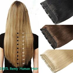 Extra Thick One Piece 5clips Clip In Real Human Hair Virgin Remy Weft Extensions