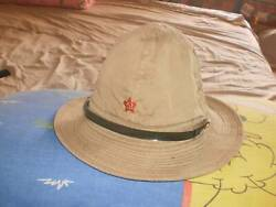 Antique Soviet Russian 1964 Afghanistan Military Army Panama Cap Hat 56