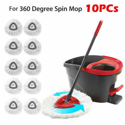 10X Mop Head Refill Replacement for O Cedar EasyWring Microfiber Spin Mop