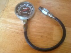 Vintage Sun Electric Corp Compression Tester Gauge Steam Punk Collectible Tool