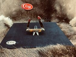 Case Usa 1965-69 Dark Red Stag 52131 Canoe Knife Mint And Rare