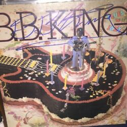 BB B.B. King  signed album cover rock music hall of famed
