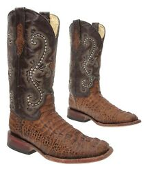 FERRINI Cowboy Boots 7 D Mens EXOTIC Alligator Leather Western Square Toe Boots $209.99
