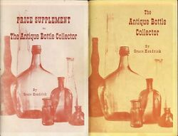 Kendrick Antique Bottle Collector Collectibles Bottles Glass Price Guide 2 Vols