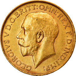 [854310] Coin, South Africa, George V, Sovereign, 1927, Au50-53, Gold, Km21