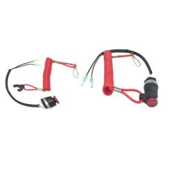2x Boat Kill Stopswitch Stop Switch Tether Lanyard For Tohatsu Outboard