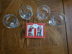 Genuine Coca Cola Drinking Glasses 4 And New Coca Cola Christmas Playing Cards
