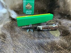 1972 Vintage 997 Jagdmesser Knife With Nice Stag Handles With Pouch