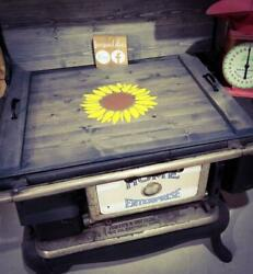 Farmhouse Sunflower Stove Cover - Choose Oven, Sink, Or Serving Tray Option