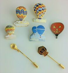 Hot Air Balloon Lapel And Stick Pins Lot Of 7 Vintage