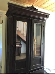 1920andrsquos Antique Ward Robe Armoire Mirrored Dresser Hand Made Solid Wood- Pick Up