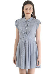 Cover Story Striped Button Detailed Skater Dress