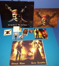 Pirates Of The Caribbean Promo Lot Premier Gift Bag,lg Banner, Pkt Watch,cards++