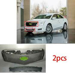 For Cadillac Xts 2013-2017 Abs Black Car Front V-type Grille Grill Cover Trim