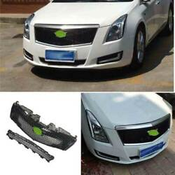 For 2013-2017 Cadillac Xts Abs Black Car Front V-type Grille Grill Cover Trim