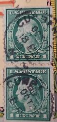 1912 Washington 1 Cent Ultra-rare Double On Antique Postcard Pack Cumberland, Md