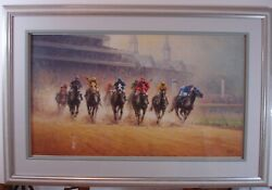 G. Harvey Test Of Champions Signed, Numbered, Matted And Framed Print