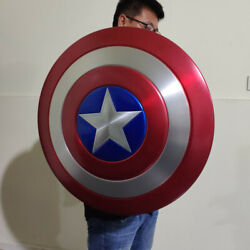 11 The Avengers Captain America Shield Alloy Metal Version With Display Stand