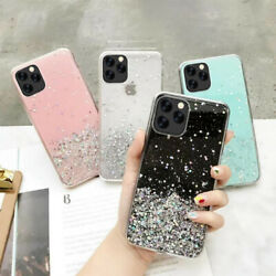 Flash Glitter Crystal Clear Slim Silicone Soft Case Cover For iPhone 11 Pro Max