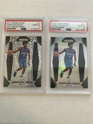 2017-18 Panini Prizm Jonathan Isaac Silver Prizm And Fast Break Lot 2 Cards