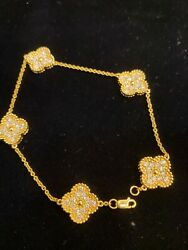 2.77 Cts Round Brilliant Cut Natural Diamonds Tennis Bracelet In Solid 18k Gold