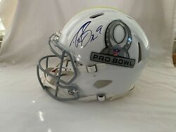Drew Brees And Andrew Luck Signed 2014 Hawaii Pro Bowl Helmet Nfl Football Psa