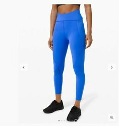 Nwt Lululemon Free To Speed Hr Tight Leggings 25andrdquo Size 4 Wild Blue Bell
