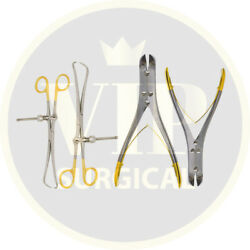 Tc Pin Wire Cutter And Bone Reduction Forceps Set Of 4 Pcs Orthopedic Instruments