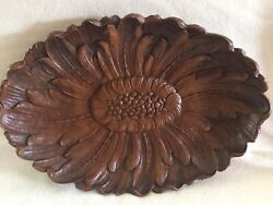 Vintage Ornawood Flower Tray Bowl 12 X 8 Made In Usa