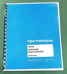 Tektronix 2245a Instruction Manual 190 Pages And Protective Covers