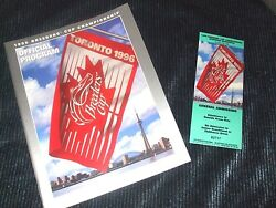 Cigar 1996 Breeders Cup 25th Anniversary Woodbine Horse Racing Program And Ticket