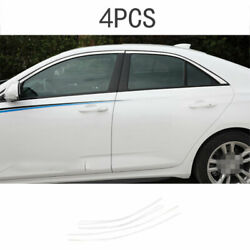 For 2020-2021 Cadillac Ct4 Chrome Steel Window Molding Trim Decoration Strips 4x