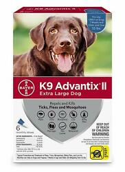 K9 Advantix II for Extra Large Dogs Over 55 lbs 6 Pack NEW