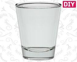 6 Dozen Blank Shot Glasses Clear Glass Barware Whiskey Rum Bulk Tequila 1.5 oz $35.99