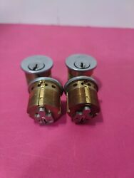 Schlage E Keyway Mortise Cylinder 1 1/8 In 0 Bitted Old Style Lot Of 4