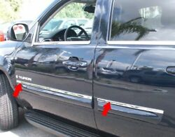 For 07-09 Gmc Yukon Body Side Stainless Molding Trim Top 3/4 Wide 4pc Overlay