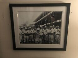 Chicago Cubs Black And White Framed Picture Collection