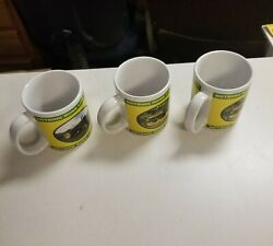 John Deere Coffee Cup Lot Of 3, Harvest Products, 2004 Series, Tractors