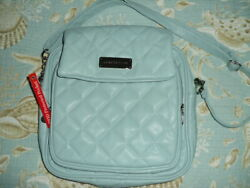 NWT Samantha Brown QUILTED CrossBody Bag In Light Blue Brand New Purse $29.99