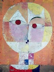 Art-print-klee-abstract-senecio-detail-on-paper-canvas-or-framed