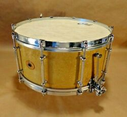 Ludwig Super Sensitive Gold-flake 30's 6.5x14 Vintage Snare Drum Very Rare