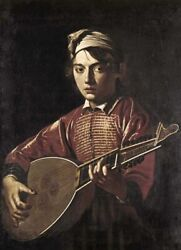 Art-print-caravaggio-figurative-the-lute-player-on-paper-canvas-or-framed
