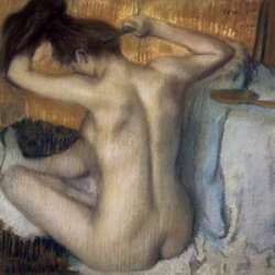 Art-print-degas-museo-woman-combing-her-hair-on-paper-canvas-or-framed