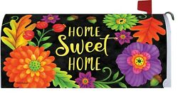 Fall Thanksgiving Home Sweet Home Flowers Magnetic Mailbox Cover