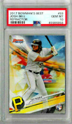 2017 Bowmanand039s Best Josh Bell Refractor Psa 10 Rc