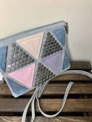 Women's Clutch Handbags With Studs And Triangle Designs $13.00