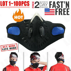 Cycling Face Mask Bicycle Motorcycle Ski Face Cover Anti-pollution Valve Lot
